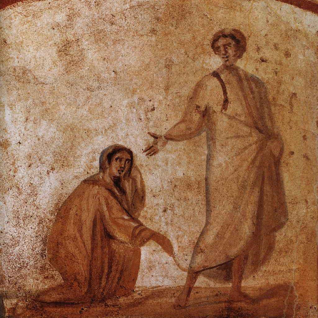 Jezus uzdrawia krwawiącą kobietę