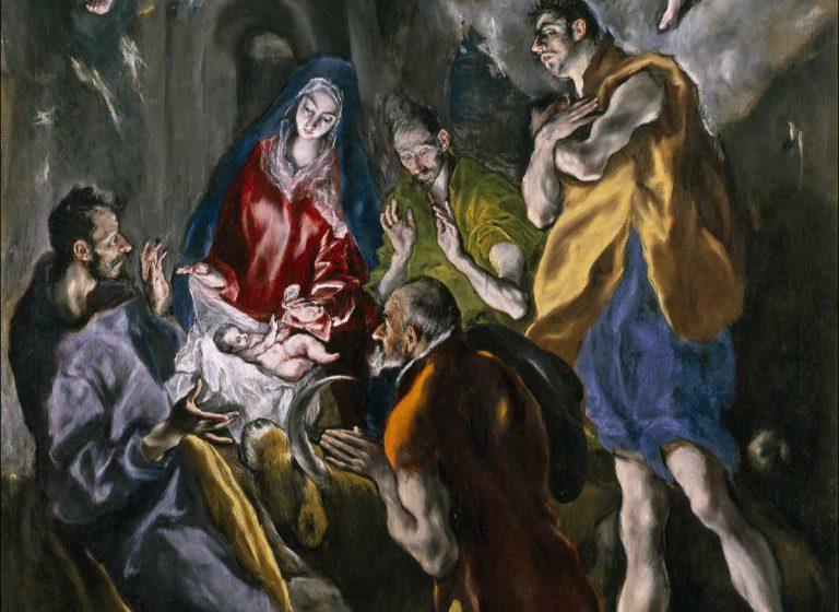 El Greco - Adoracja pasterzy - fragment