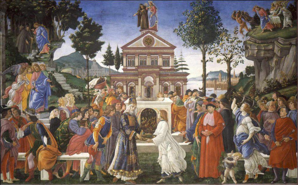 Botticelli - Kuszenie Chrystusa