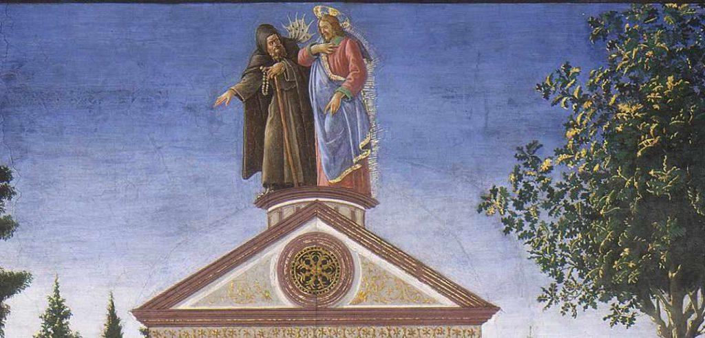 Botticelli - Ofiara trędowatego lub Kuszenie Chrystusa - fragment 3