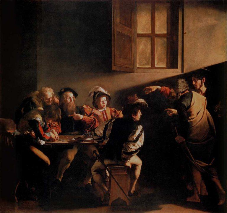 Obraz Caravaggio - Powołanie świętego Mateusza