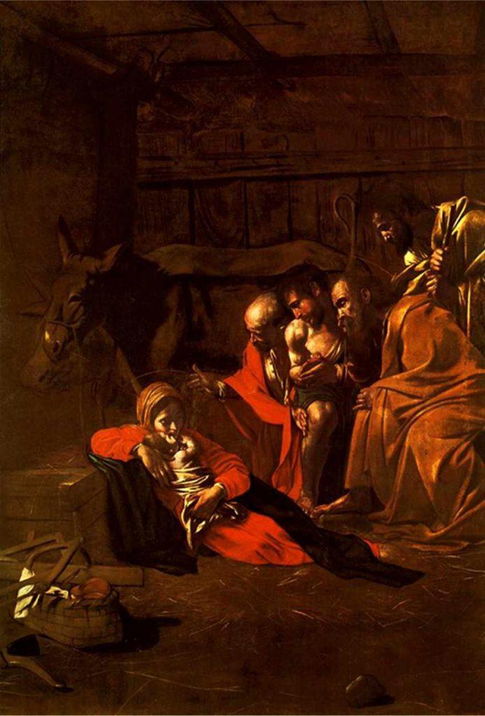 Caravaggio - Pokłon pasterzy - 1609