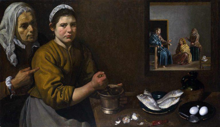 Velazques - Chrystus u Marii i Marty