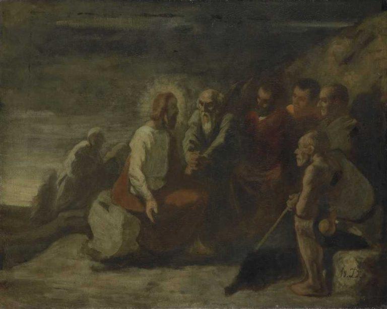 Obraz - Chrystus wśród apostołów - Daumiere