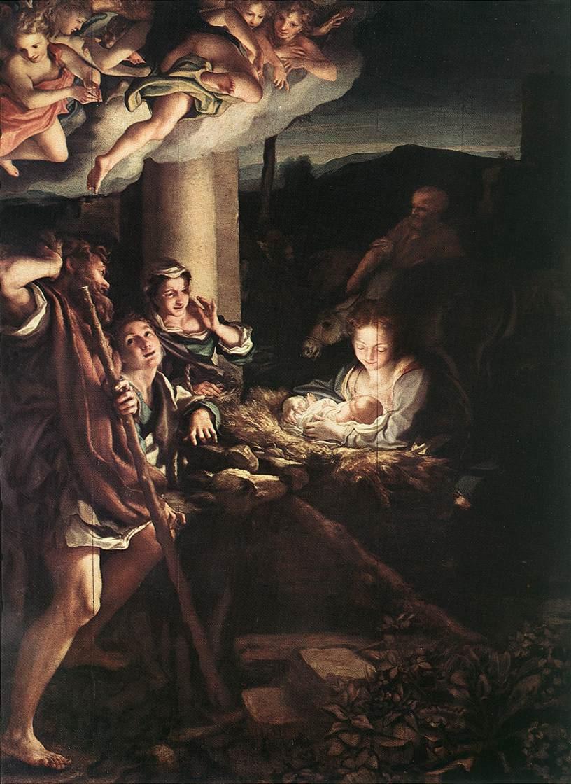Correggio - Pokłon pasterzy