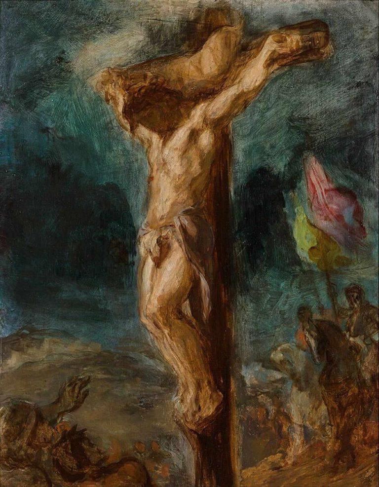 Delacroix - Chrystus na krzyżu