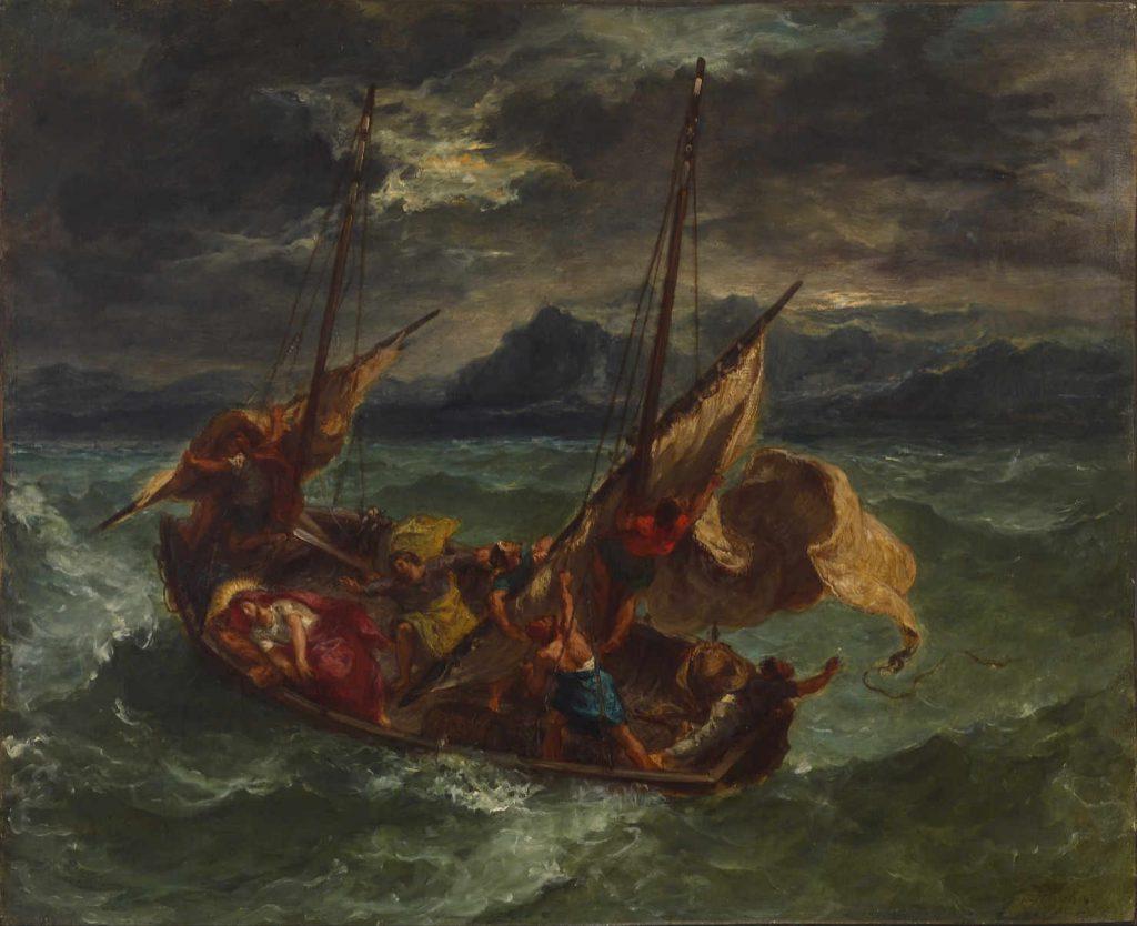 Delacroix - Chrystys na morzu galilejskim