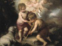 Dziecię Jezus poi z muszelki małego Jana Chrzciciela