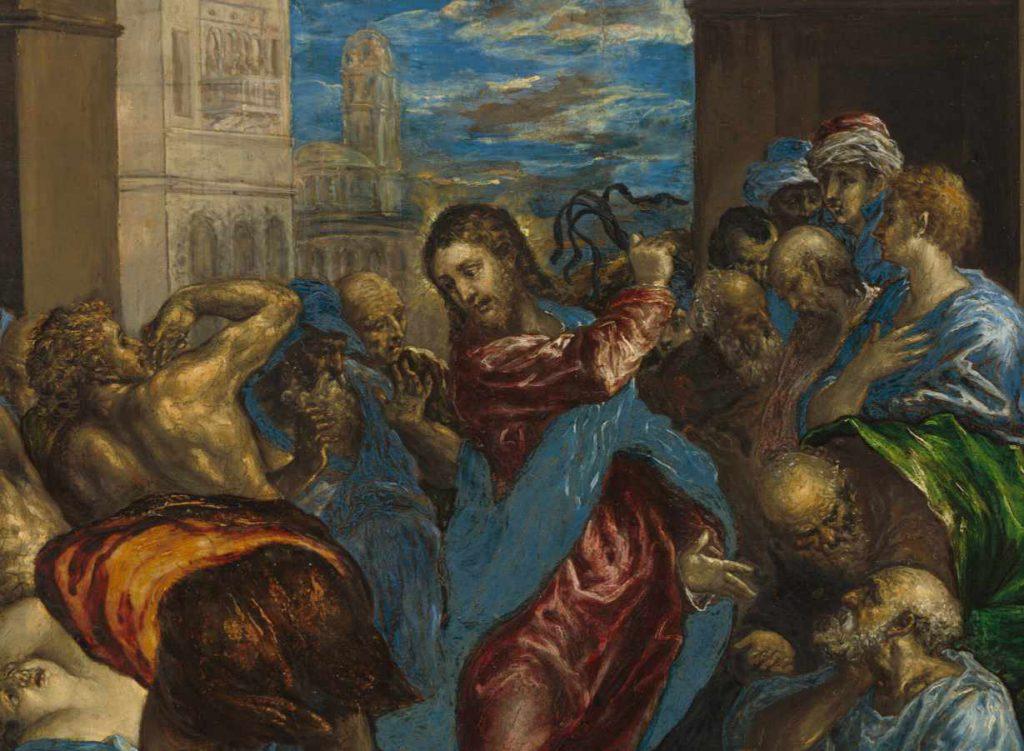 El-Greco - Wypędzenie przekupniów z światyni-