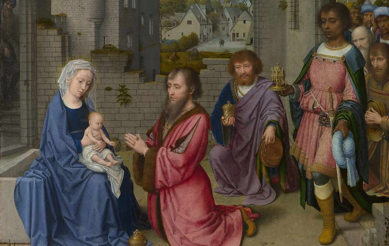 Gerard David Adoration of the Kings-fragment