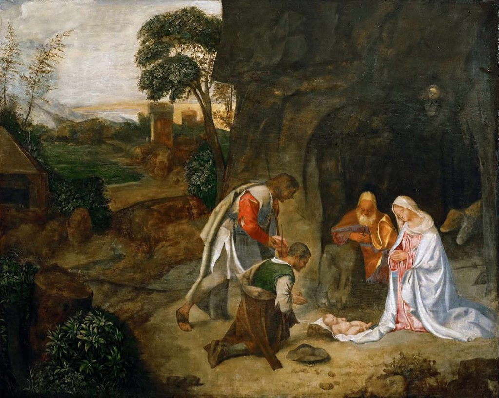 Giorgione - Pokłon pasterzy - wersja 2