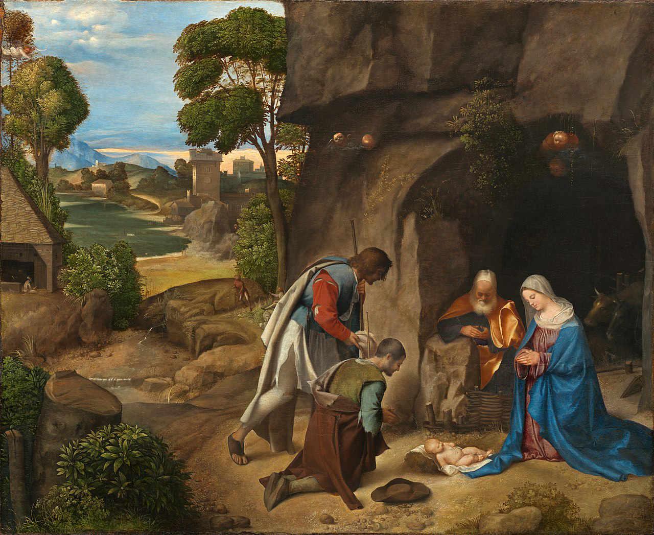 Giorgione - Pokłon pasterzy