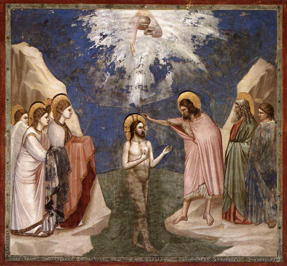 Giotto - fresk - Chrzest Jezusa