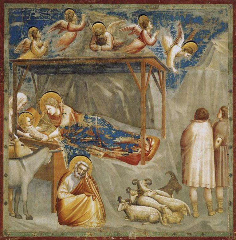 Fresk Giotto - Narodziny Jezusa