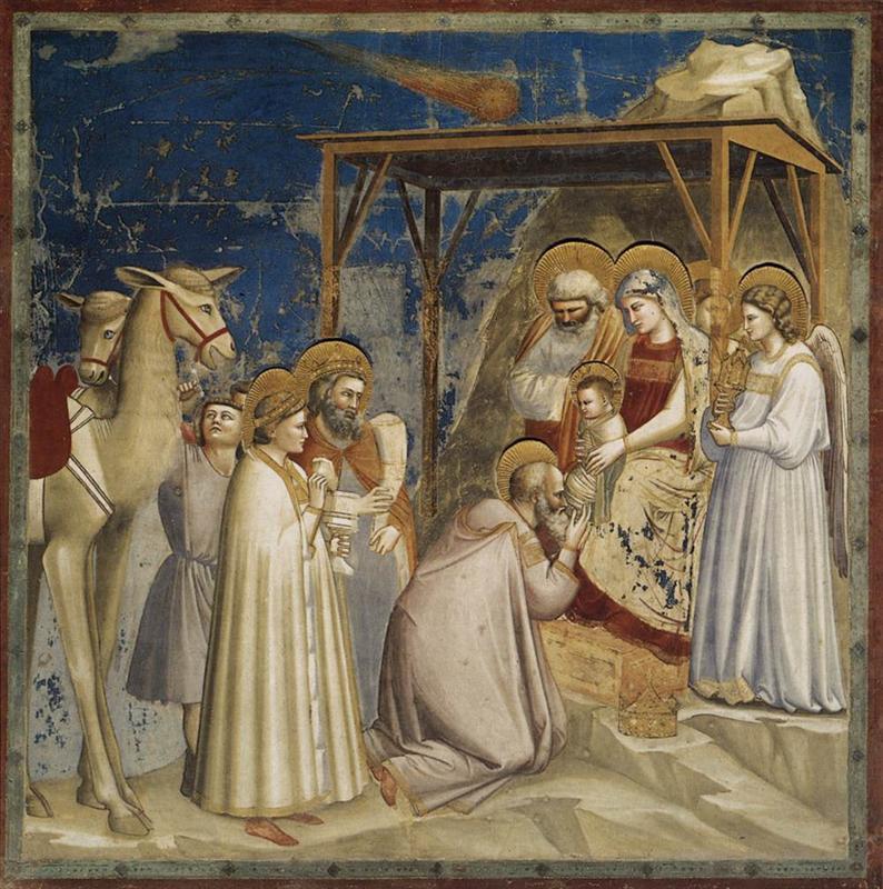Giotto - Pokłon Trzech Króli