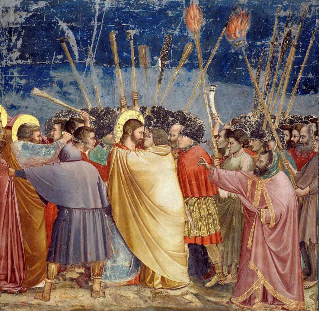 Fresk Giotto - Pocałunek Judasza