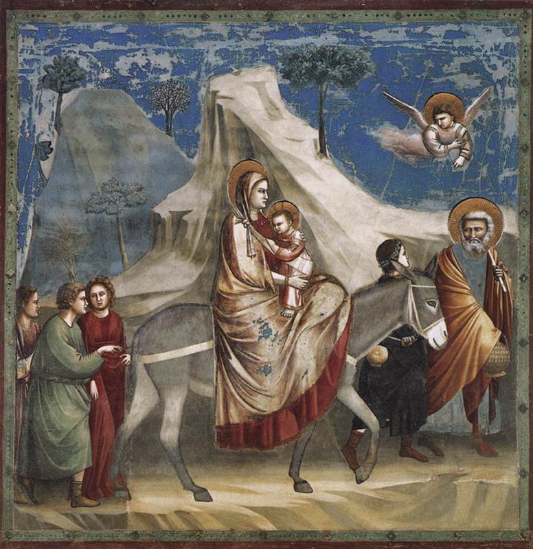 Fresk Giotto - Ucieczka do egiptu