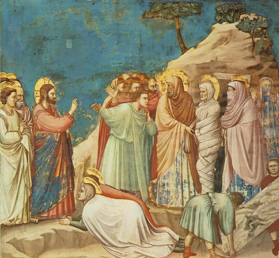 Giotto - fresk - Wskrzeszenie Łazarza
