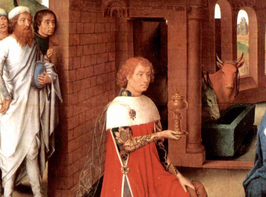 Memling Hans - Adoracja Magów - fragment 2