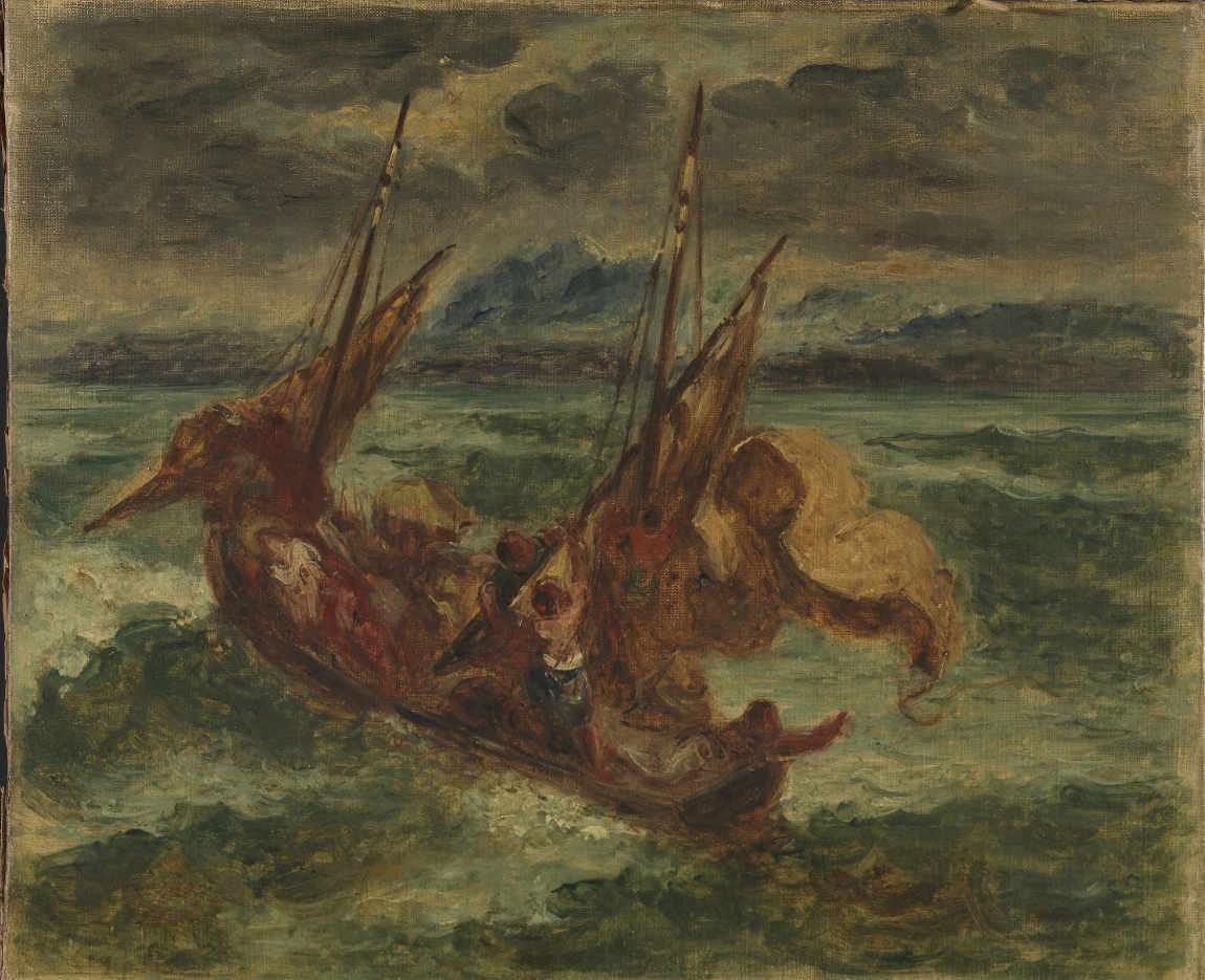 Obraz Delacroix - Chrystus na jeziorze Genezaret
