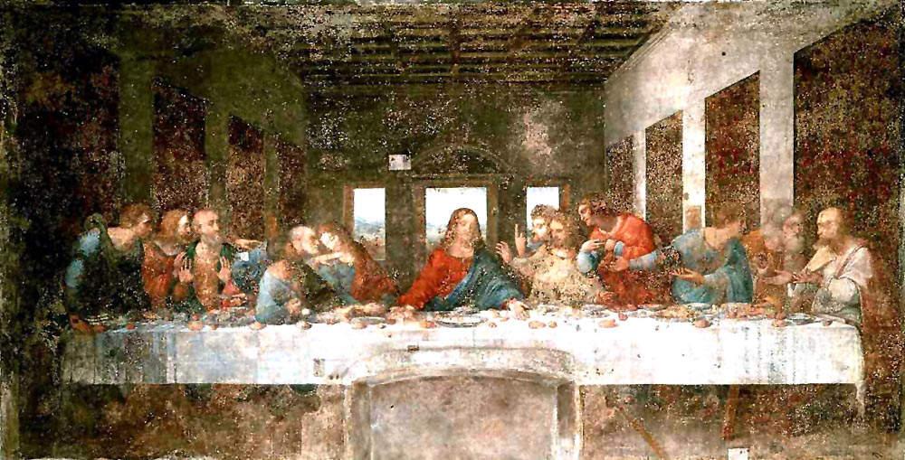 Vinci-Ostatnia wieczerza przed renowacją