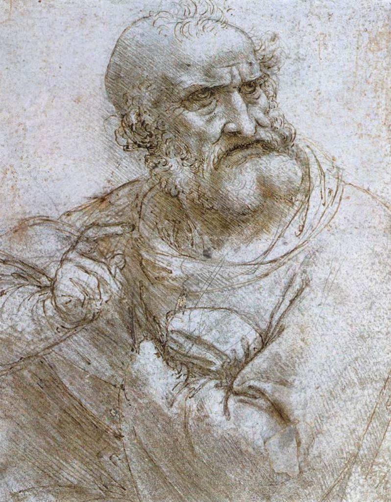 Leonardo da Vinci - studium-do-Ostatniej Wieczerzy - Św. Piotr