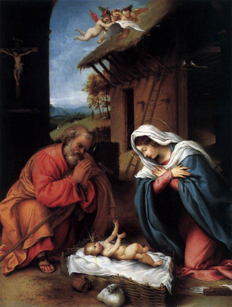Lorenzo Lotto -obraz -  Narodzenie