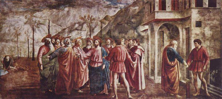 Fresk Masaccio - Grosz czynszowy