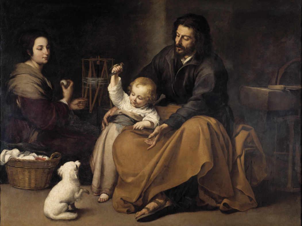 Murillo - Święta Rodzina z ptaszkiem