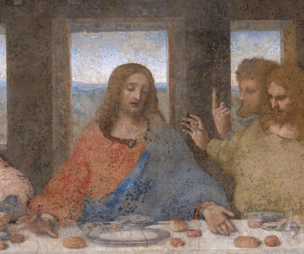Ostatnia wieczerza Leonardo da Vinci-detal