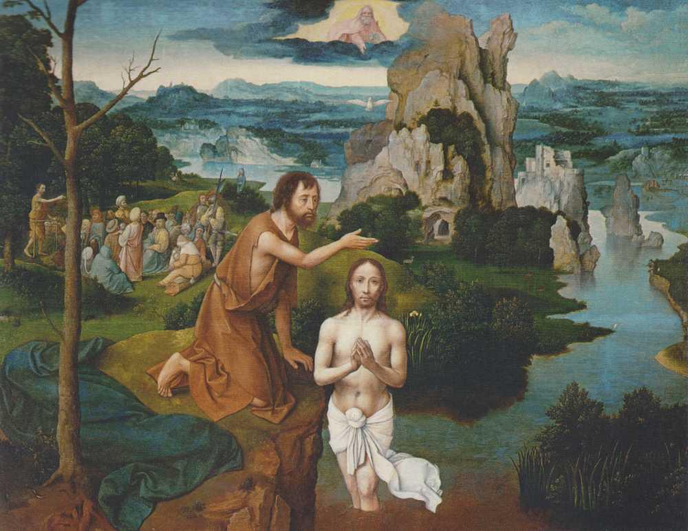 Obraz Patinira- Chrzest Chrystusa