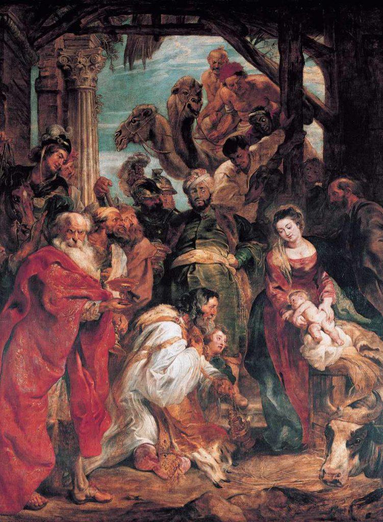 Pokłon Trzech Króli - obraz Rubensa