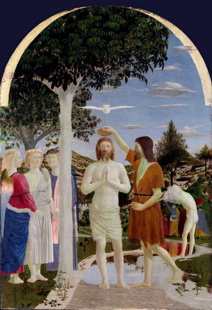 Chrzest Chrystusa - Piero della Francesca