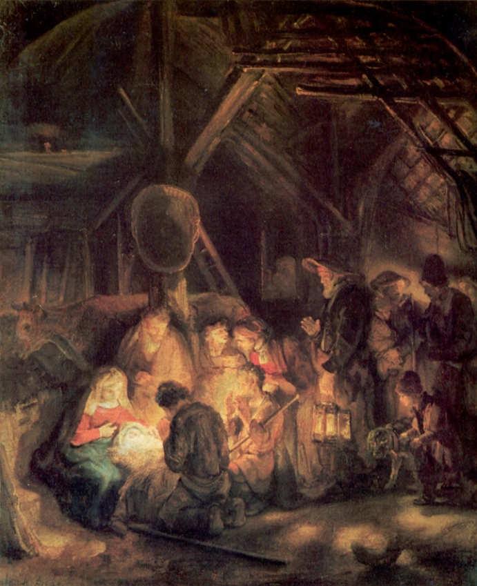 Rembrandt - Adoracja pasterzy