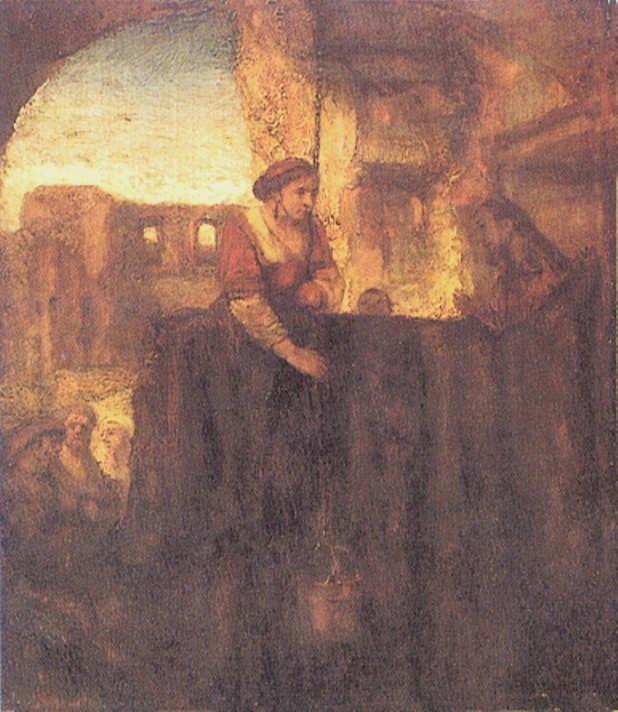 Rembrandt-Chrystus i Samarytanka przy studni-1659
