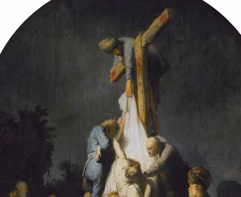 Rembrandt - Zdjęcie z krzyża - fragment