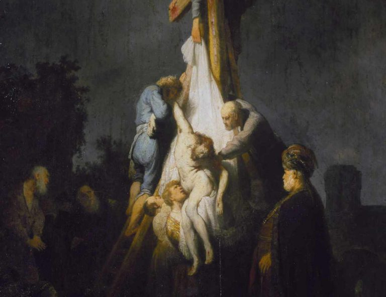 Rembrandt -Zdjęcie z krzyża (1632) - fragment