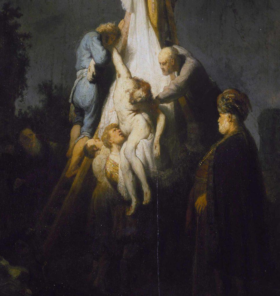 Rembrandt - Zdjęcie z krzyża - fragment 2