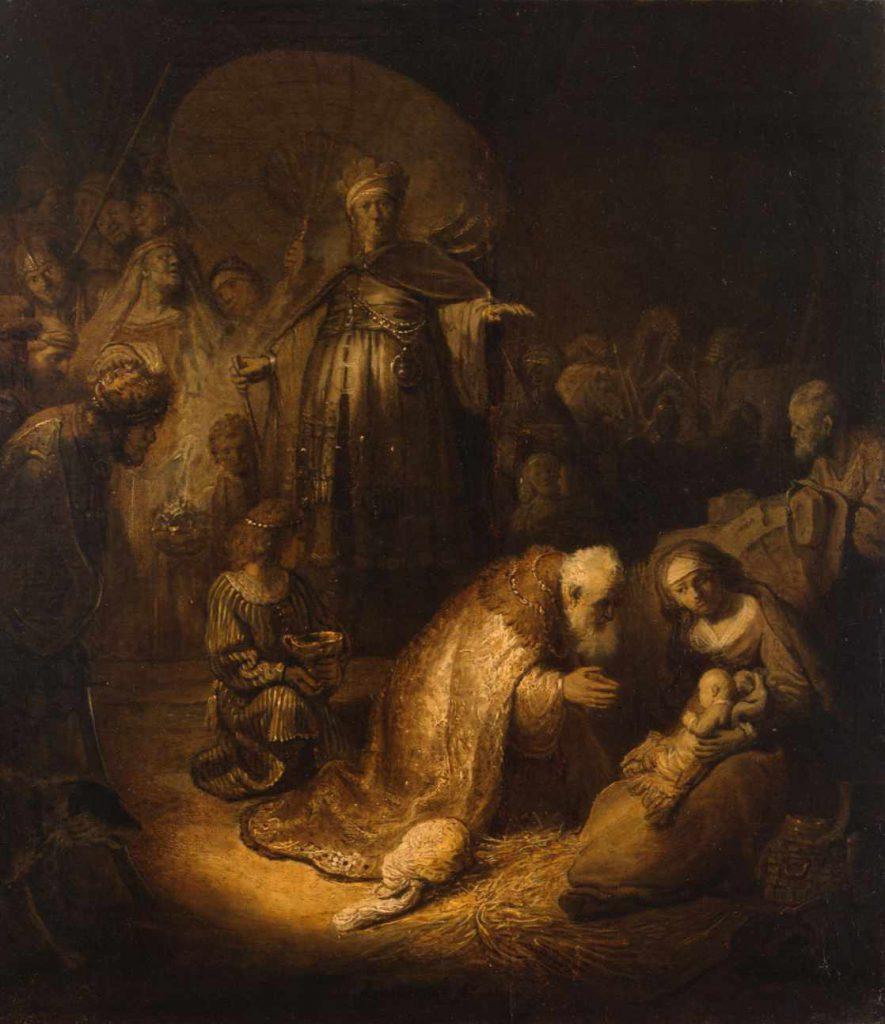 Rembrandt - Adoracja magów
