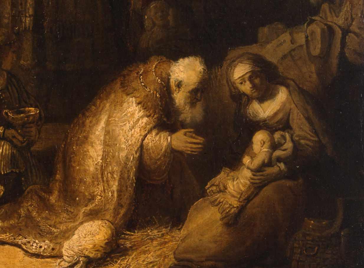 Rembrandt - Adoracja magów - fragment