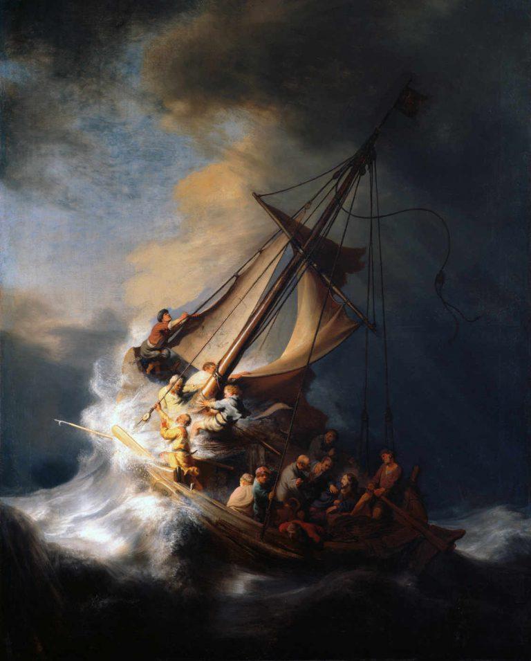 Rembrandt - Burza na Jeziorze Genezaret