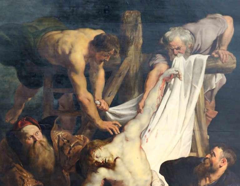 Zdjęcie z Krzyża - Rubens - panel centralny - fragment