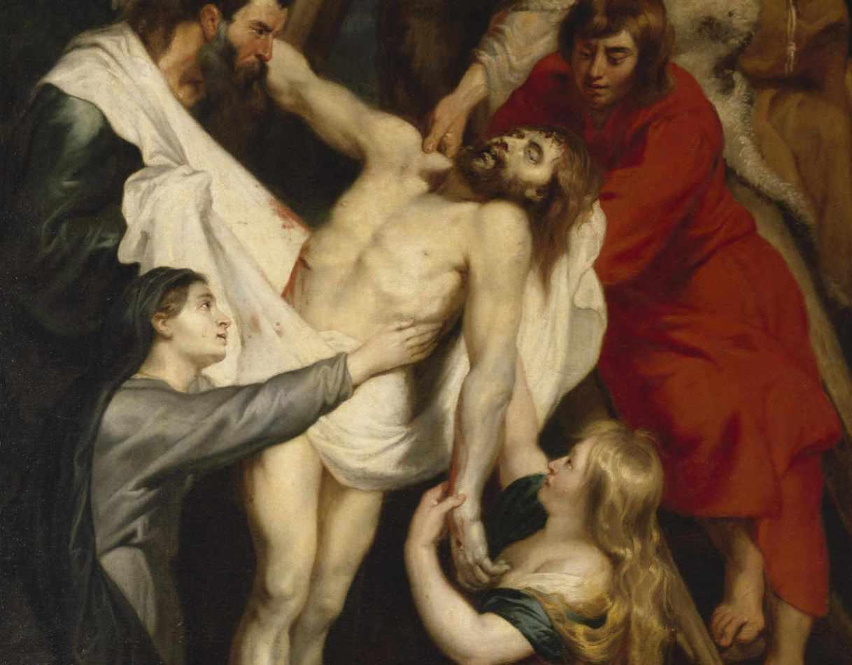 Rubens - Zdjęcie z krzyża - fragment