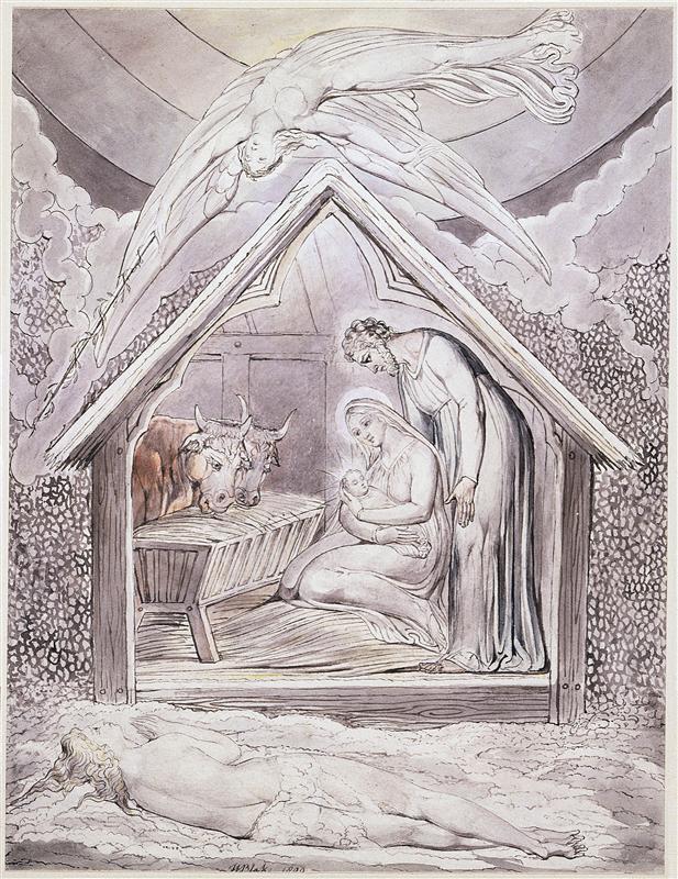 Blake -ilustracja do Miltona - Narodzenie