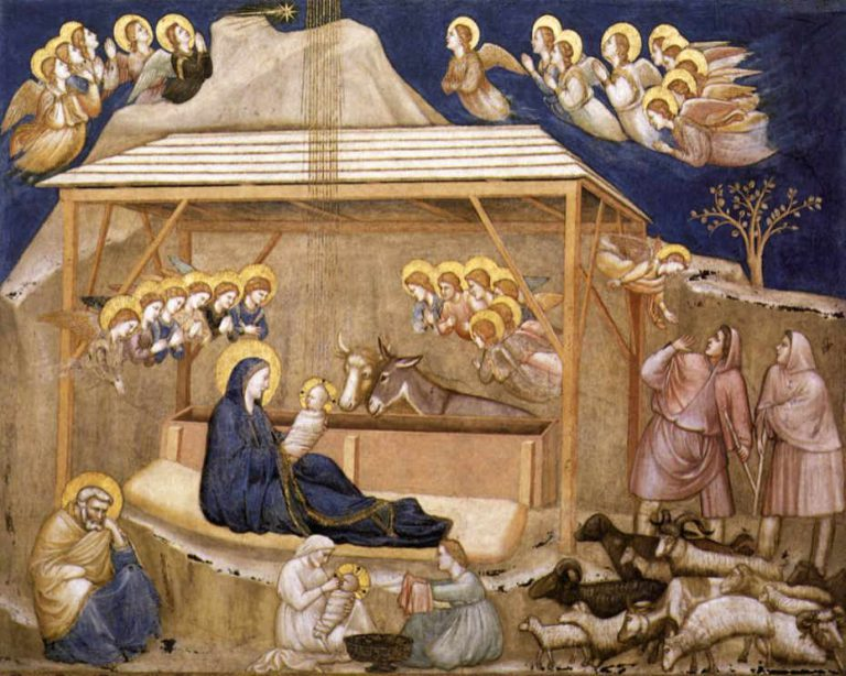 Fresk Giotto - Narodzenie, Asyż