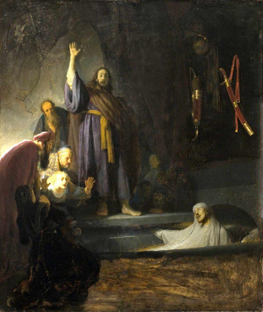 Rembrandt - Wskrzeszenie Łazarza