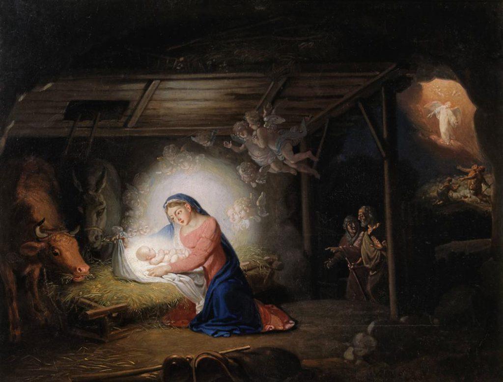 Obraz Borowikowskiego - Narodzenie Chrystusa