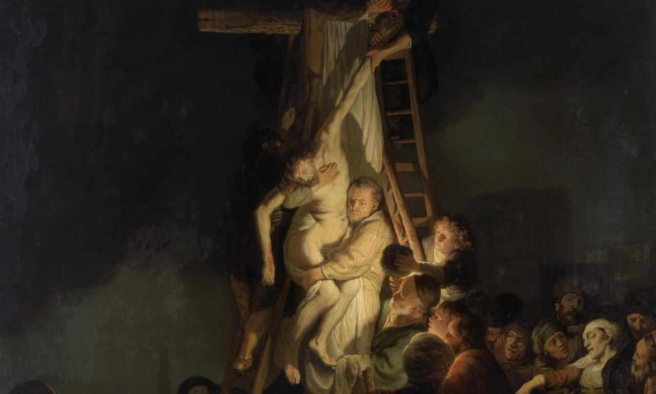 Rembrandt - Zdjęcie z krzyża -1634 - fragment