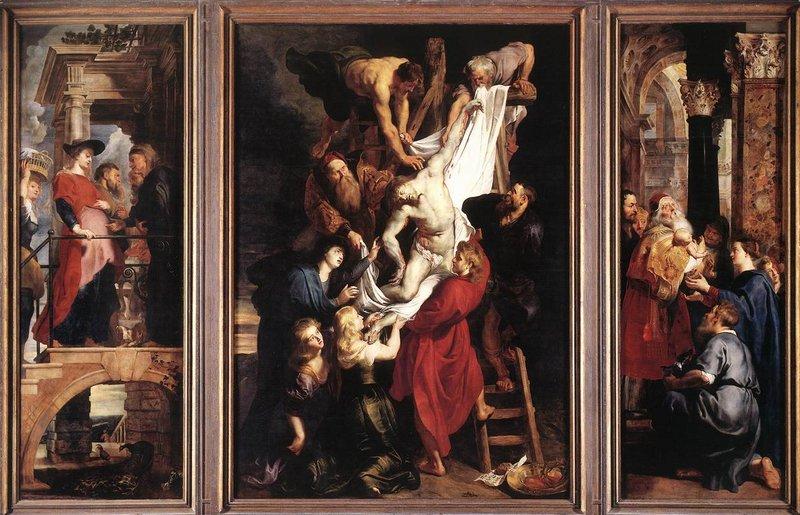 Tryptyk Rubensa - Zdjęcie z krzyża